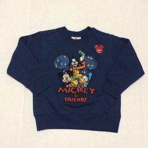 DISNEY Mickey & Friends Crewneck Sweatshirt Blue